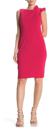 Calvin Klein Shoulder Bow Sheath Dress