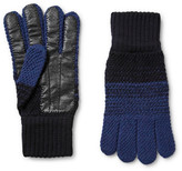 Paul Smith - Colour-block Wool And Leather Gloves