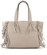 UGG Women's Lea Leather Fringed Tote Bag Taupe