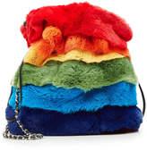 Les Petits Joueurs Drawstring Fur Bag with Chain Strap