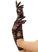 Leg Avenue Black Stretch Lace Elbow-Length Gloves