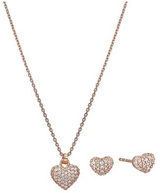 Michael Kors Necklace Box Set (Rose Gold Tone) Jewelry Sets