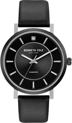 Kenneth Cole New York Men's Diamond Accent Black Watch