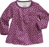 First Impressions Baby Shirt, Baby Girls Long-Sleeved Dot-Print A-Line Top