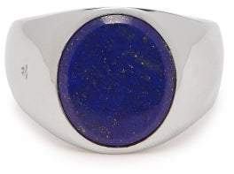 Lapis Tom Wood Sterling Silver Signet Ring - Mens - Silver