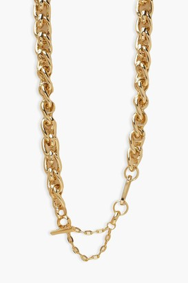boohoo Gold Chunky Chain Necklace