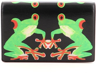 Christian Dior Clutch on Chain Printed Leather Small