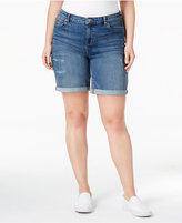Style&Co. Style & Co Plus Size Distressed Cuffed Denim Shorts, Only at Macy's