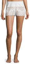 Cosabella Lace Boxer Lounge Shorts, White