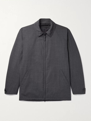 Aspesi Padded Woven Blouson Jacket - Men - Gray