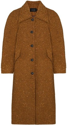 Low Classic Single-Breasted Speckled Coat