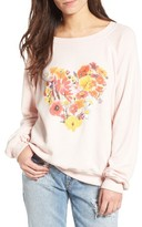 Wildfox Couture Women's Blooming Heart Pullover