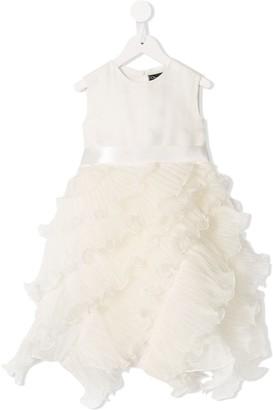 Oscar De La Renta Kids Charlotte organza ruffled dress