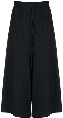 Societe Anonyme High-Rise Cropped Wide-Leg Trousers