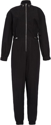 RtA Halima Zip Detail Cotton & Linen Jumpsuit