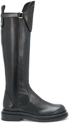 Ermanno Scervino Detachable Flap Knee-High Boots