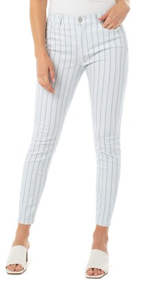Liverpool Abby Stripe Ankle Skinny Jeans