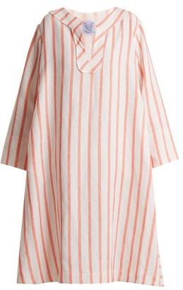 Thierry Colson Biarritz Spugna Striped Kaftan - Orange Stripe
