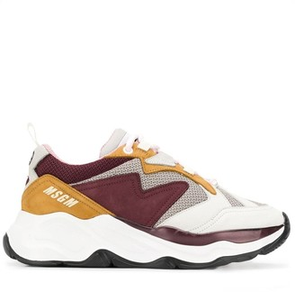 MSGM colour block sneakers