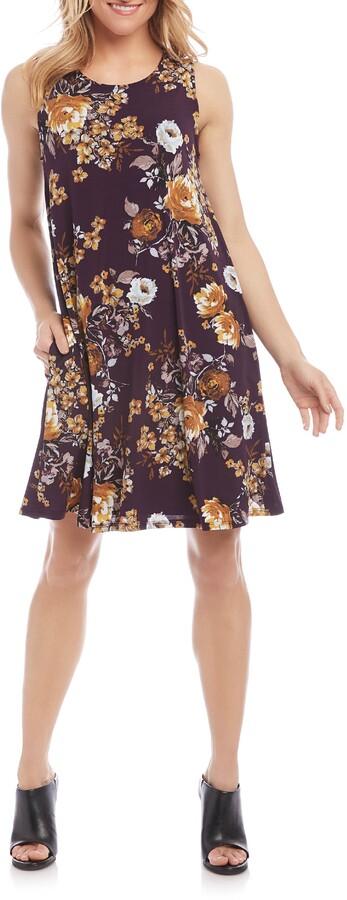 Karen Kane Chloe Floral Print Shift Dress