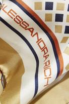 Alessandra Rich Printed silk scarf