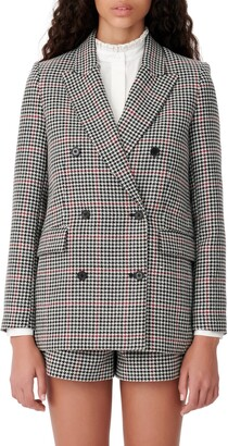 Maje Double Breasted Suit Blazer