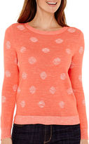 Liz Claiborne Long-Sleeve Dot Sweater