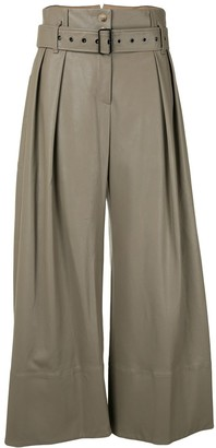 Eudon Choi Belted Flared Leg Trousers