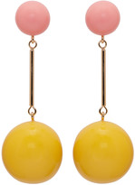 J.W.Anderson Yellow and Pink Sphere Earrings