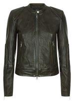 SET Leather Zip-Up Jacket