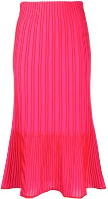 M Missoni Ribbed Knit Midi Skirt