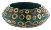 Kenneth Jay Lane Peaked Wood & Resin Bangle