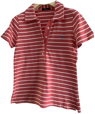 Brooksfield Red Cotton Top for Women Vintage