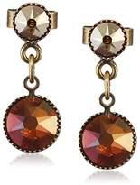 Konplott Waterfalls Brass Glass, Brown – 5450543307565 Women's Earrings