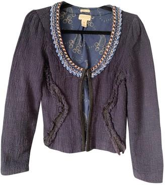 Maison Scotch Blue Cotton Jacket for Women