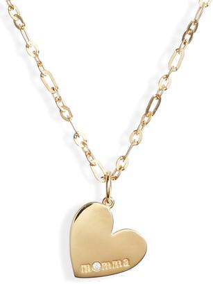 ela rae Momma Heart Pendant Necklace
