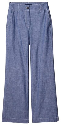 J.Crew Ryan Pants in Washed Chambray (Medium Chambray Wash) Women's Casual Pants