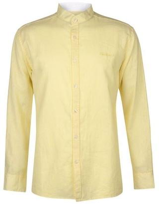 Pierre Cardin Long Sleeve Linen Shirt Mens