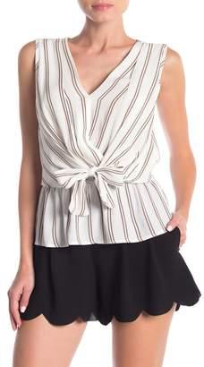 Elodie K Drapey Tie Front Sleeveless Top