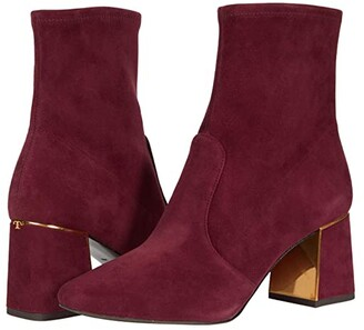Tory Burch Gigi 70 mm Stretch Bootie (Burgundy) Women's Shoes