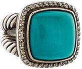 David Yurman Turquoise & Diamond Albion Ring