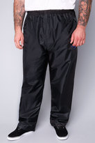 Yours Clothing D555 Black Packaway Waterproof OverTrousers