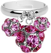 Body Candy Pink Cluster Dangle Adjustable Ring
