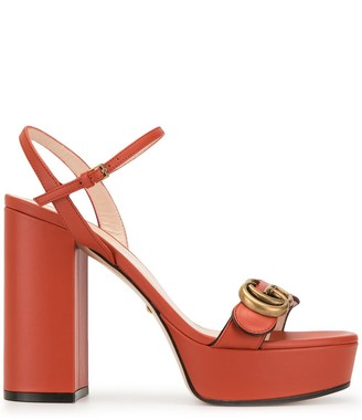 Gucci double G platform sandals