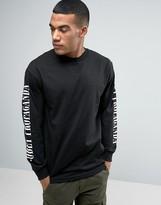 Obey Long Sleeve Tee With Sleeve Print