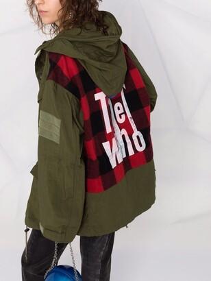 Junya Watanabe The Who-print parka coat