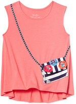 Jessica Simpson Song Purse-Pocket Graphic-Print Tank Top, Big Girls (7-16)