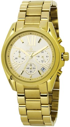Burgmeister Women's Analogue Quartz Watch with Stainless Steel Gold Plated Strap BM337-279