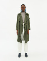 Farrow Women's Nicolette Trench Jacket in Olive, Size Small
