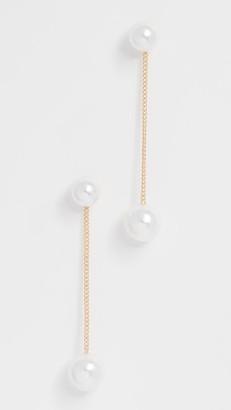 Theia Double Imitation Pearl Earrings
